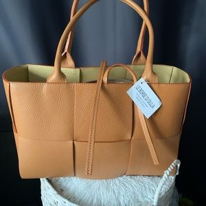 Made in Italy gorgeous genuine leather tan bag.